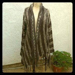Poncho Style Snuggly Sweater